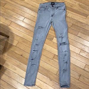 Hudson super skinny distressed jeans pants bottoms
